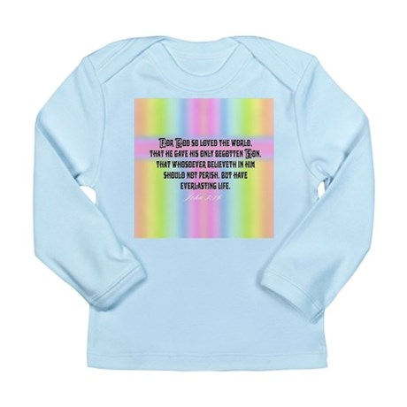 John 3:16 Rainbow Long Sleeve Infant T-Shirt