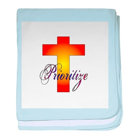 Prioritize Cross baby blanket