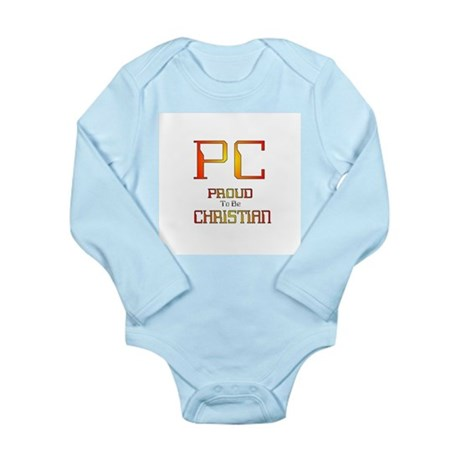 Proud to be Christian Long Sleeve Infant Bodysuit