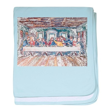 Last Supper baby blanket