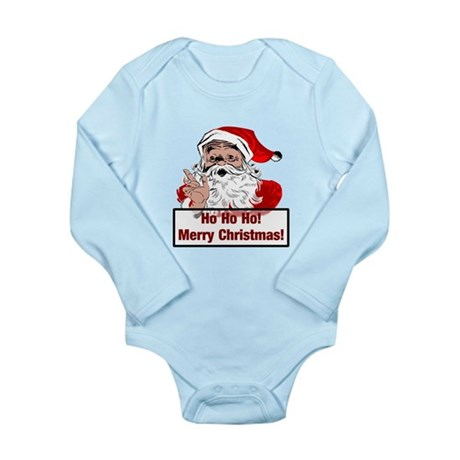 Santa Clause Long Sleeve Infant Bodysuit