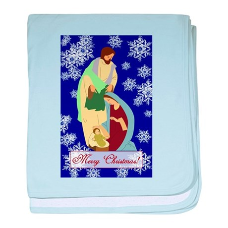 The Nativity baby blanket