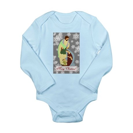 The Nativity Long Sleeve Infant Bodysuit
