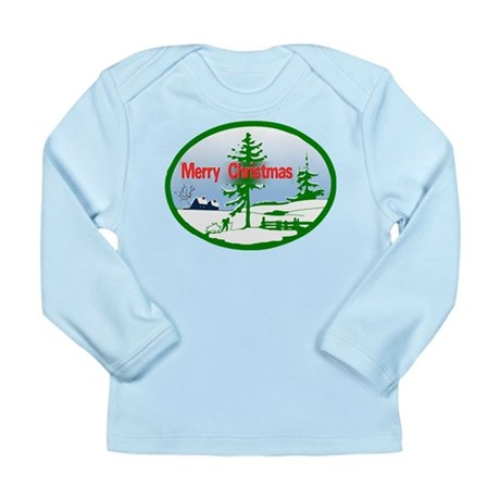 Winter Scene Long Sleeve Infant T-Shirt