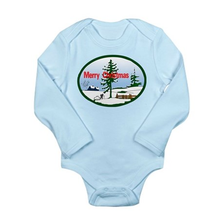 Christmas Snow Long Sleeve Infant Bodysuit