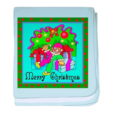 Merry Christmas Clown baby blanket