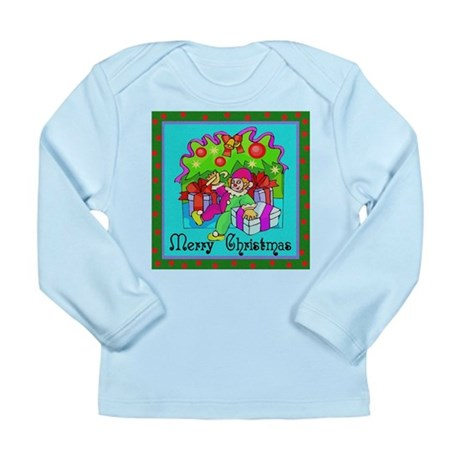 Merry Christmas Clown Long Sleeve Infant T-Shirt