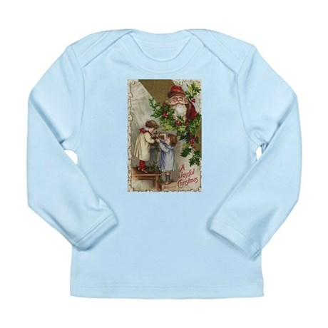 Vintage Christmas Card Long Sleeve Infant T-Shirt