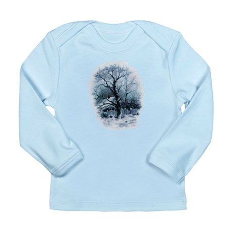 Winter Snowscene Long Sleeve Infant T-Shirt