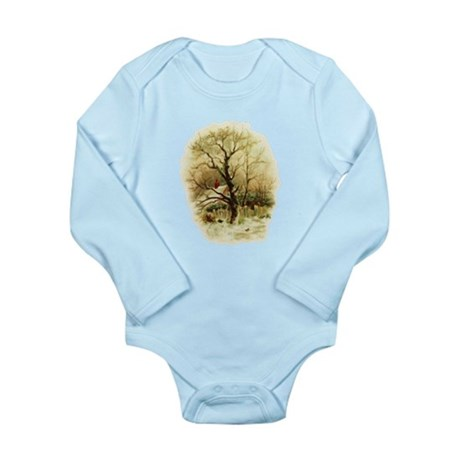 Winter Scene Long Sleeve Infant Bodysuit