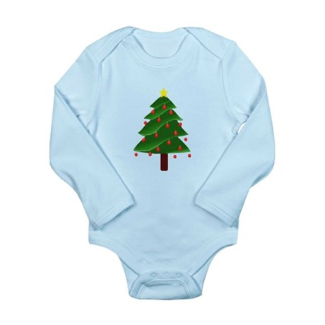 Christmas Tree Long Sleeve Infant Bodysuit