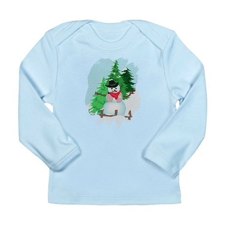 Forest Snowman Long Sleeve Infant T-Shirt