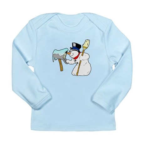 Mailbox Snowman Long Sleeve Infant T-Shirt