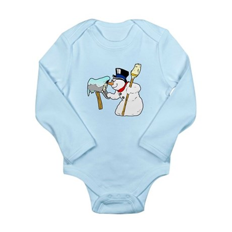 Mailbox Snowman Long Sleeve Infant Bodysuit