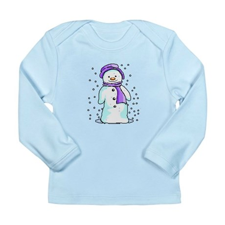 Happy Snowman Long Sleeve Infant T-Shirt