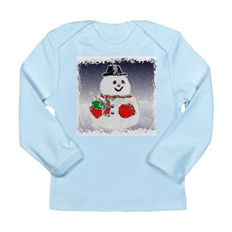 Winter Snowman Long Sleeve Infant T-Shirt