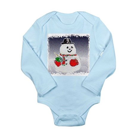 Winter Snowman Long Sleeve Infant Bodysuit