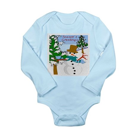 Season's Greetings Long Sleeve Infant Bodysuit