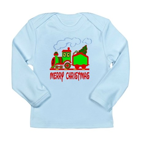 Christmas Train Long Sleeve Infant T-Shirt