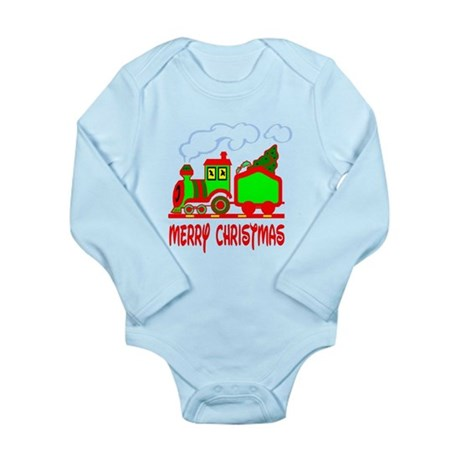 Christmas Train Long Sleeve Infant Bodysuit