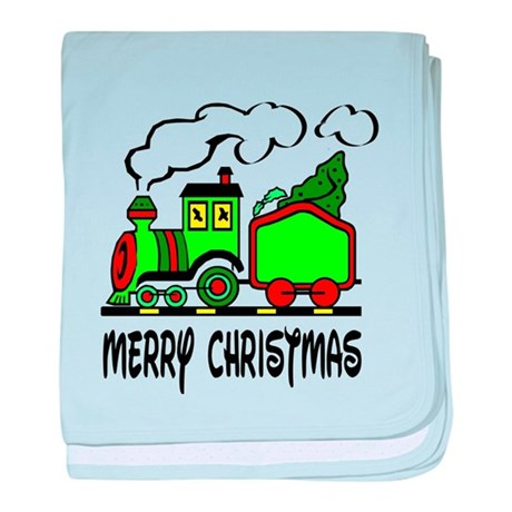 Christmas Train baby blanket