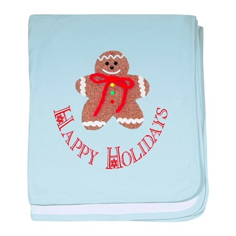 Gingerbread Holidays baby blanket