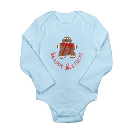 Gingerbread Holidays Long Sleeve Infant Bodysuit