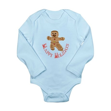 Gingerbread Man Long Sleeve Infant Bodysuit
