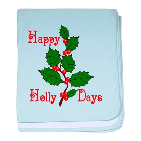 Happy Holly Days baby blanket