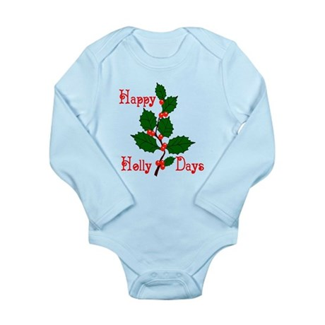 Happy Holly Days Long Sleeve Infant Bodysuit