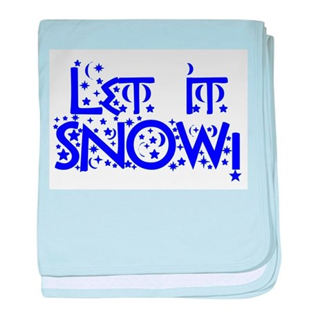 Let it Snow! baby blanket