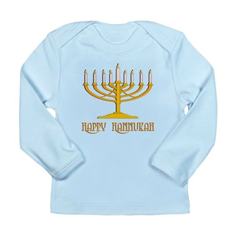 Happy Hanukkah Long Sleeve Infant T-Shirt