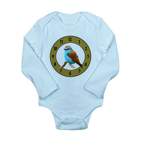 Clocks Long Sleeve Infant Bodysuit