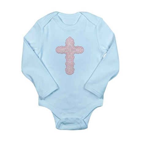 Pastel Cross Long Sleeve Infant Bodysuit