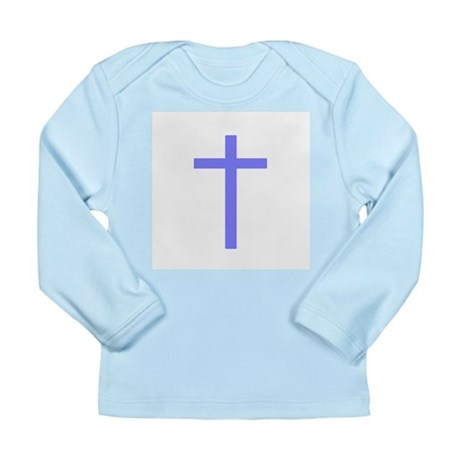 Purple Cross Long Sleeve Infant T-Shirt