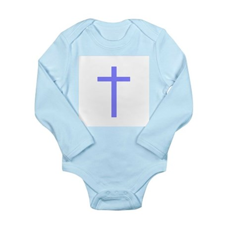 Purple Cross Long Sleeve Infant Bodysuit