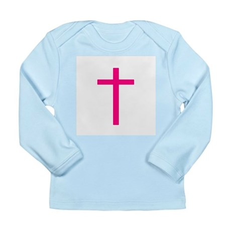 Pink Cross Long Sleeve Infant T-Shirt