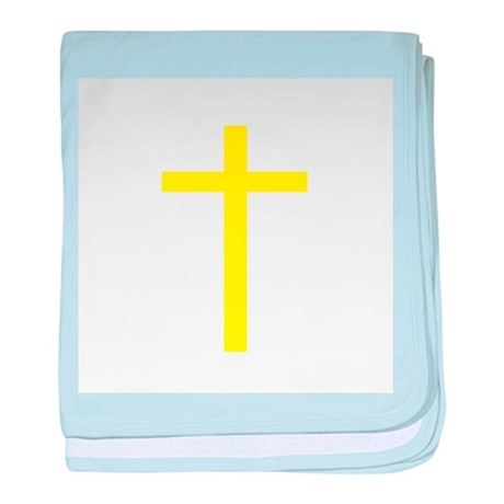 Yellow Cross baby blanket