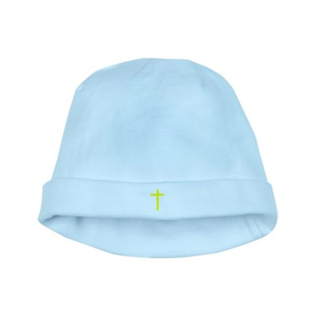 Yellow Cross baby hat