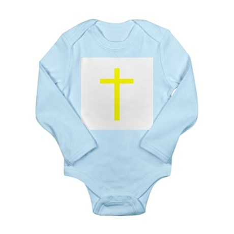 Yellow Cross Long Sleeve Infant Bodysuit