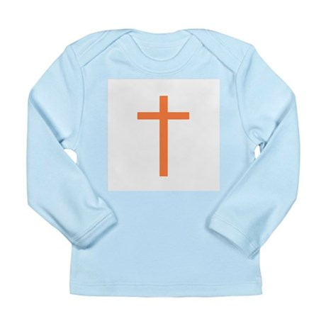 Orange Cross Long Sleeve Infant T-Shirt