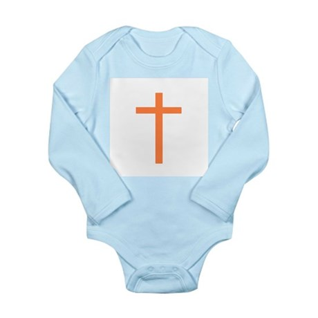 Orange Cross Long Sleeve Infant Bodysuit