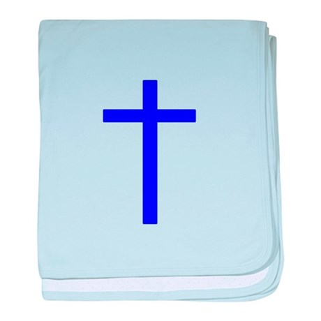 Blue Cross baby blanket