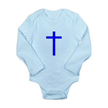 Blue Cross Long Sleeve Infant Bodysuit