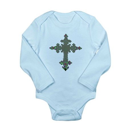 Jewel Cross Long Sleeve Infant Bodysuit