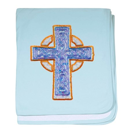 Celtic Cross baby blanket