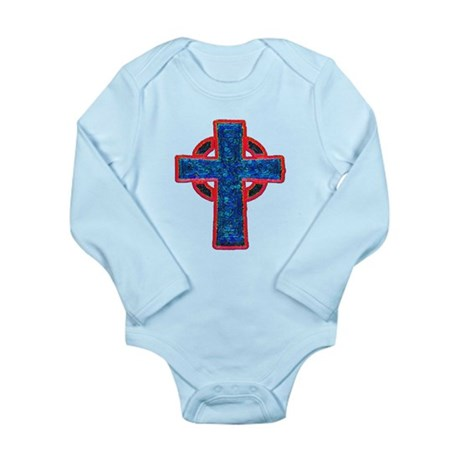 Celtic Cross Long Sleeve Infant Bodysuit