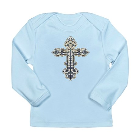 Ornate Cross Long Sleeve Infant T-Shirt