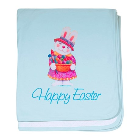 Happy Easter Bunny baby blanket