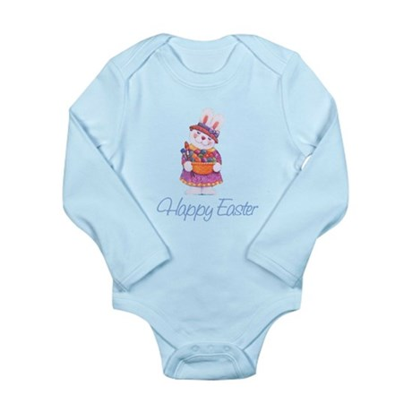 Happy Easter Bunny Long Sleeve Infant Bodysuit